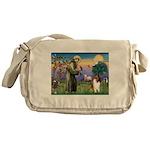 St. Francis & Collie Messenger Bag