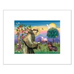 St Francis Doxie Small Poster