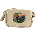 St Francis #2/ Doberman Messenger Bag