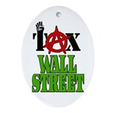 Tax Wall Street Occupy Protests 99% Ornament (Oval