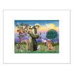 Saint Francis' Golden Small Poster