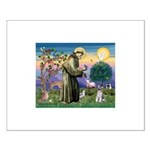 St Francis & Schnauzer (#5) Small Poster