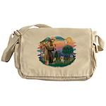 St Francis #2/ Yorkie #13 Messenger Bag