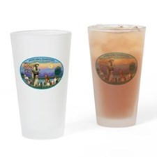 St Francis / dogs-cats Drinking Glass