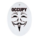 OCCUPY WALL STREET Ornament (Oval)