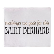 NTG-St. Bernard Throw Blanket