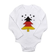 german Flag Christmas Tree Onesie Romper Suit