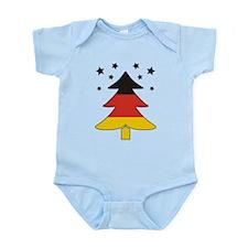 german Flag Christmas Tree Infant Bodysuit