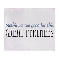 NTG-Great Pyrenees Throw Blanket