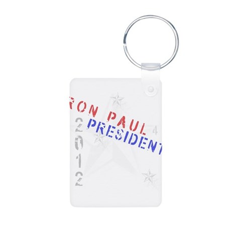 Ron Paul 4 President Aluminum Photo Keychain