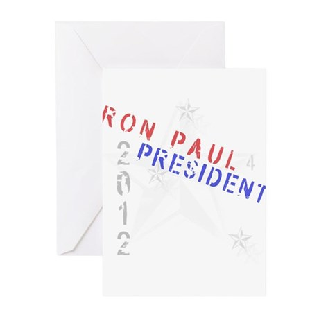 Ron Paul 4 President Greeting Cards (Pk of 10)