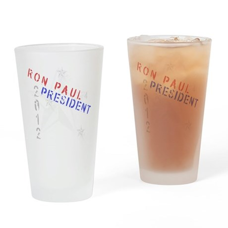 Ron Paul 4 President Drinking Glass