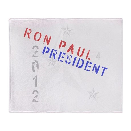 Ron Paul 4 President Throw Blanket