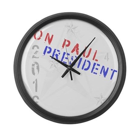 Ron Paul 4 President Large Wall Clock