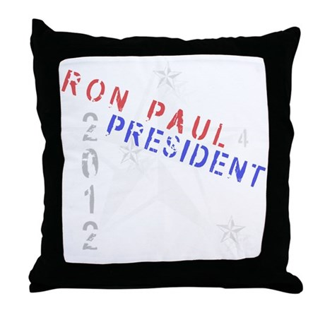 Ron Paul 4 President Throw Pillow
