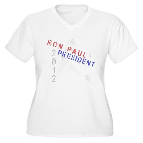 Ron Paul 4 President Women's Plus Size V-Neck T-Sh