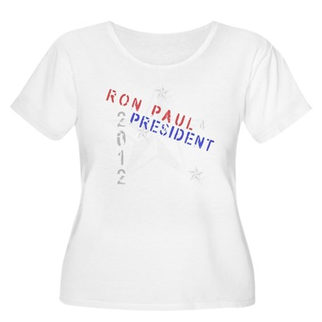 Ron Paul 4 President Women's Plus Size Scoop Neck