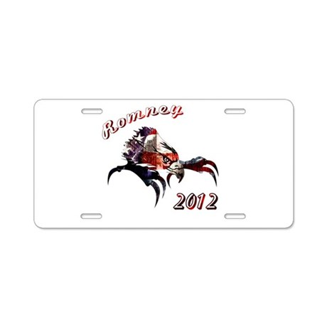 Romney 2012 Aluminum License Plate