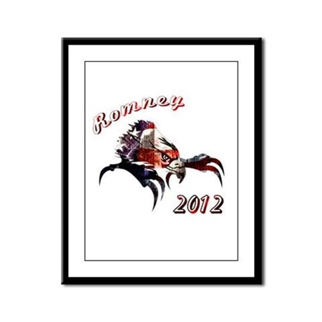 Romney 2012 Framed Panel Print