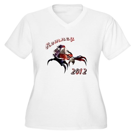 Romney 2012 Women's Plus Size V-Neck T-Shirt
