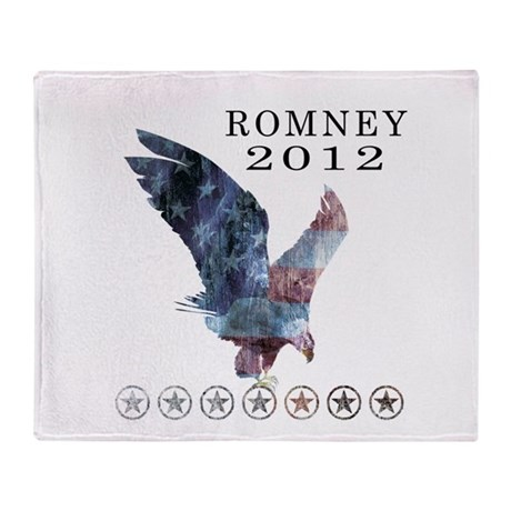 Mitt Romney 2012 Throw Blanket