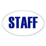 Staff Oval Sticker