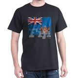 Silky Flag of Fiji Black T-Shirt
