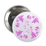 "Pink Unicorn, Floral Scrolls. 2.25"" Button (10 pac"