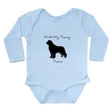 Meet My Nanny - Black Newf Long Sleeve Infant Body