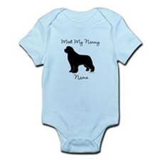 Meet My Nanny - Black Newf Infant Bodysuit