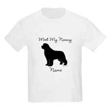 Meet My Nanny - Black Newf T-Shirt