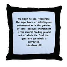 Napolean Hill quotes Throw Pillow