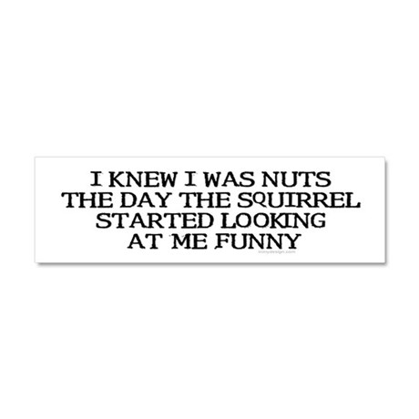 I knew I was nuts... Car Magnet 10 x 3