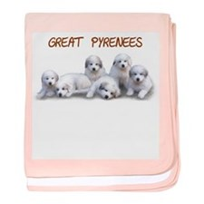 Great Pyrenees Baby Blanket, Puppy Power