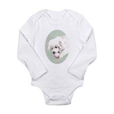 Gr Pyr Long Sleeve Inf Bodysuit, Puppy Aquarell