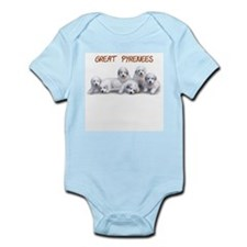 Great Pyrenees Infant Bodysuit, Puppy Power 2