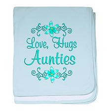 Love Hugs Aunties baby blanket