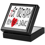 21st Birthday Keepsake Box