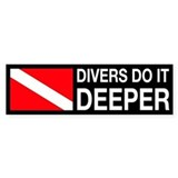 Divers Do It Deeper Bumper Stickers