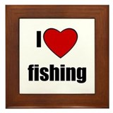 I LOVE FISHING Framed Tile