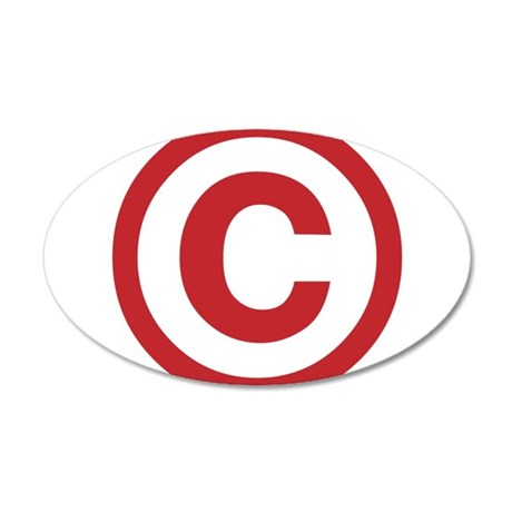 I Am Copyright 38.5 x 24.5 Oval Wall Peel