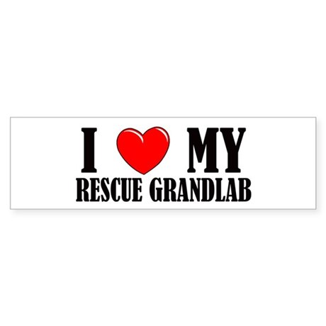 Rescue Grandlab Bumper Sticker