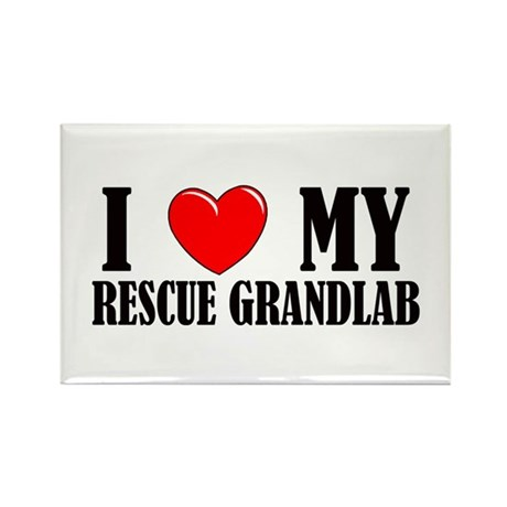 Rescue Grandlab Rectangle Magnet
