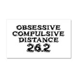 Obsessive Compulsive Distance Car Magnet 20 x 12