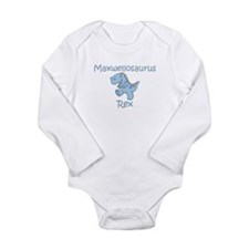 Mom, Dad, & Maxwellosaurus Long Sleeve Infant Body