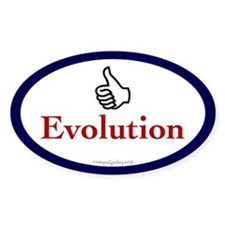 Thumbs Up for Evolution Oval Decal