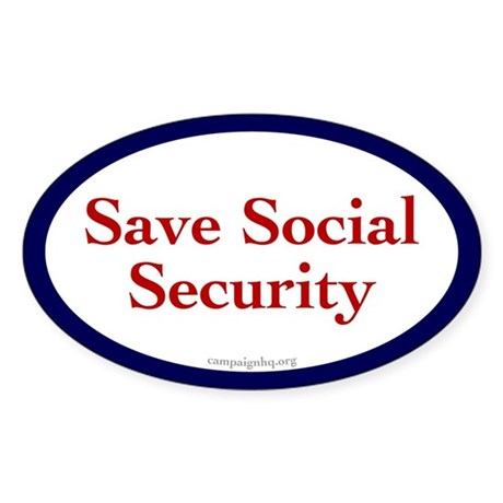 Save Social Security Oval Sticker