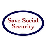 Save Social Security Oval Decal
