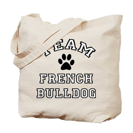 Team French Bulldog Tote Bag