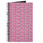 I Love Flute Music Journal Practice Notebook
